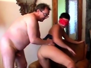 Fat Pervert Plays With Youthful babe