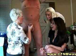 Two babes and blonde milf share stiff cock _: british drunk girl femdom