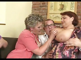 Horny Dutch Grannies And Their Boytoy