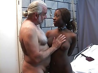 Lovely black girl is tortured in bdsm basement with vibrator dildo