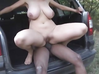 In the German Woods 1 - The MILF Outdoors