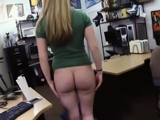 Blonde babe fucked by horny pawn man for a pearl necklace