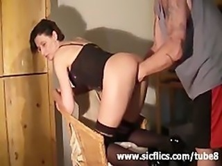 Brutally deep fist fucked amateur wife squirts in orgasm