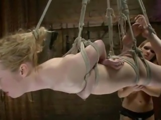 Nicki Blue Lets Rain DeGrey Attach Wires To Her asshole until She Toys It