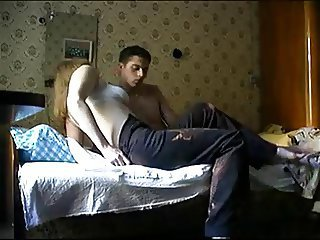 Individual shooting post of young man with MILF 2