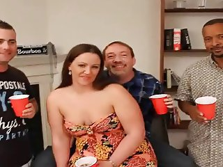 chubby wife gangbang and bukkake
