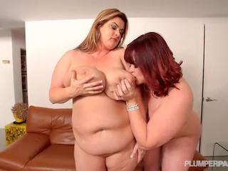 2 Big Tit BBW MILFS Take on Hubby Stud Cock