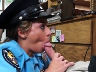 Cash needing latina cop sucks pawnbroker