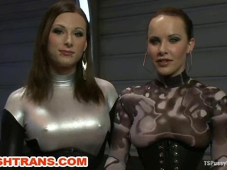 TS Eva Cassini Latex and Katie Ives Fucking in the SciFi Future