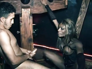 Black Tranny With White Slave