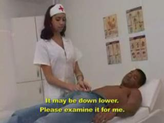 Petite Nurse has a Throbbing Dick