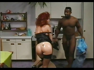Ass Interracial Kitchen  Pornstar Redhead Stockings Vintage