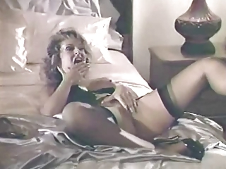Masturbating  Pornstar Stockings Vintage