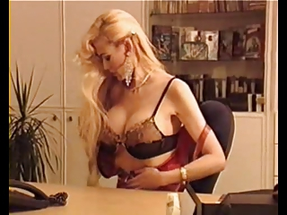 Big Tits Blonde European German Lingerie  Office Stripper Vintage