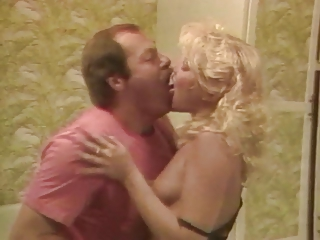 Blonde Daddy Kissing Vintage