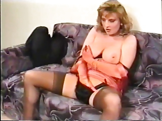 Amateur Masturbating  Natural Panty Solo Stockings Vintage