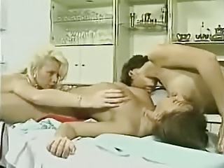 European French Lesbian Licking  Vintage