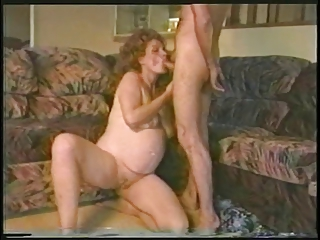 Pregnant whore gets fucked hard and..