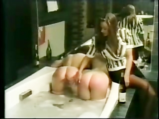 2 Girls Getting Spanked In Bath By..