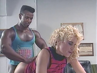 Blonde Clothed Doggystyle Interracial  Pornstar Vintage
