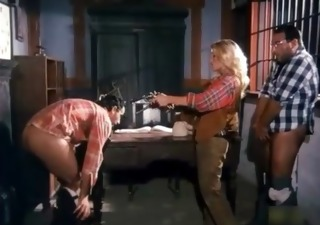 wild west double penetration in rub-down the saloon ((fyff))