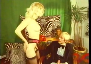 Babe Blonde Lingerie Stockings Vintage