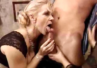 Blowjob European German Mature Old and Young Threesome Vintage