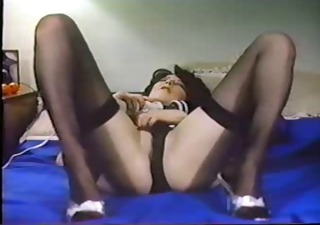 Masturbating  Panty Solo Stockings Vintage