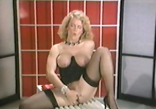 Big Tits Masturbating  Natural  Solo Stockings Vintage