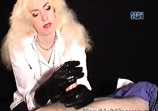 Blonde Handjob Latex  Vintage
