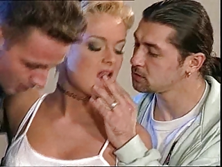 Blonde  Pornstar Threesome Vintage