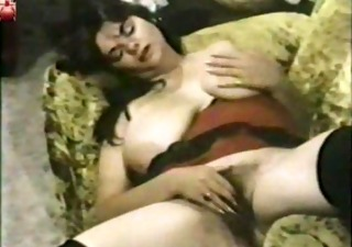 Big Tits Hairy Masturbating  Natural Pornstar  Solo Vintage