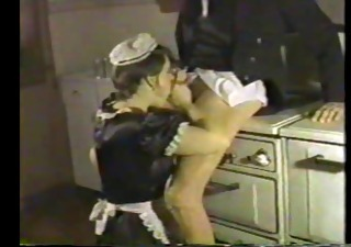 Blowjob Clothed Kitchen Maid Uniform Vintage