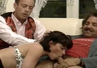 Blowjob Daddy European French  Threesome Vintage