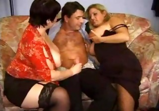 vintage 3way with fat woman and one favourable guy