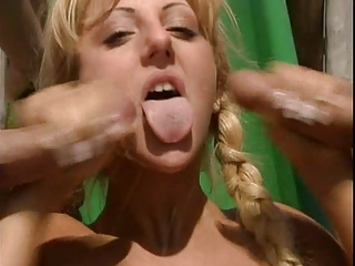 Blonde Cumshot Cute European German Handjob Swallow Teen Threesome Vintage