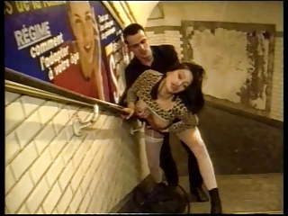 Amazing Clothed Cute Doggystyle European French Hardcore  Public Stockings Vintage