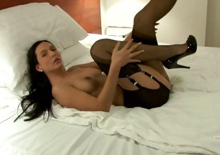 Amazing Brunette Legs  Solo Stockings Vintage