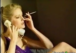 naughty blond smokin