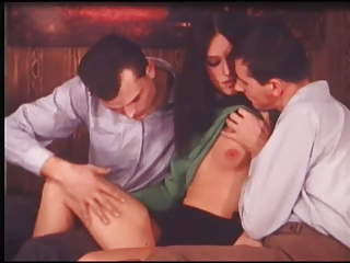 Brunette Cute European Skinny Small Tits Teen Threesome Vintage