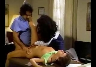 Ebony Interracial  Pornstar Threesome Vintage