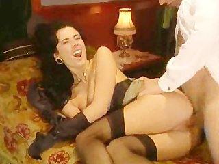 Brunette European Hardcore Italian Pornstar Stockings Vintage