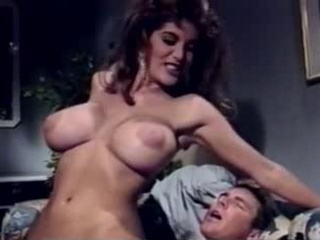 Amazing Big Tits  Pornstar Riding Vintage