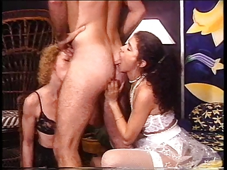 Blowjob Licking Threesome Vintage