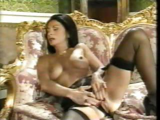Brunette Masturbating  Pornstar Stockings Vintage