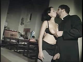 Big Tits Brunette  Natural Pornstar Uniform Vintage