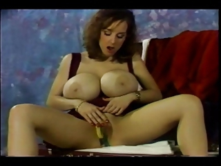 Big Tits Masturbating  Natural Pornstar Solo Vintage