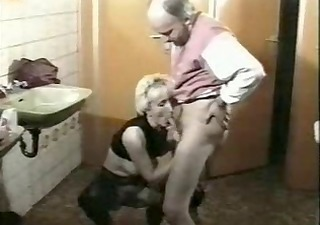 Blowjob Clothed Mature Older Toilet Vintage
