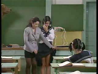 Lesbian  Old and Young School Student Teacher Teen Uniform Vintage