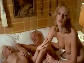Daddy Daughter Family Old and Young Teen Threesome Vintage